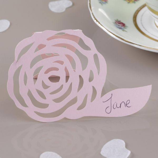 Frills & Spills Pink Free Standing Place Cards (10)